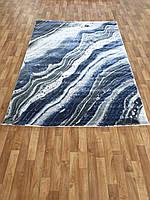 Синий ковер на пол Canyon