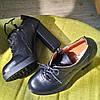 Ботильоны женские на высоком каблуке кожаные черные, фото 4