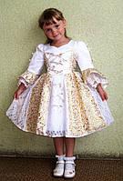 Прокат праздничного бело-золотого платья Принцессы
