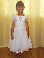 Прокат красивого белого платья со шнуровкой, фото 1