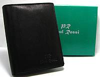 Черный портмоне кожаный мужской Paul Rossi