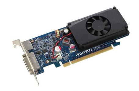 Видеокарта GeForce GT310 DDR3 512Mb 64bit Nvidia НИЗКАЯ задняя планка!!!, фото 2