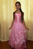 Розовое платье на девочку-подростка на прокат в Харькове