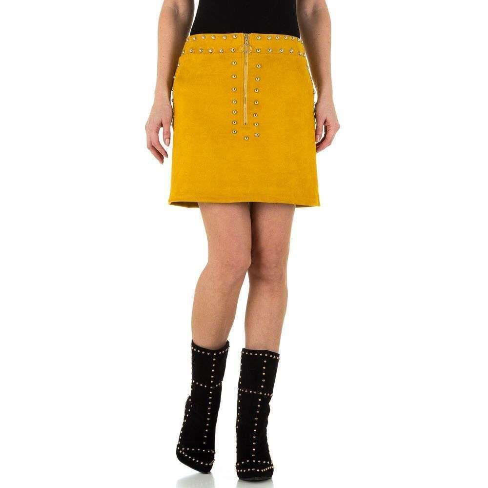 Женская юбка - желтый - KL-WJ-8037-yellow
