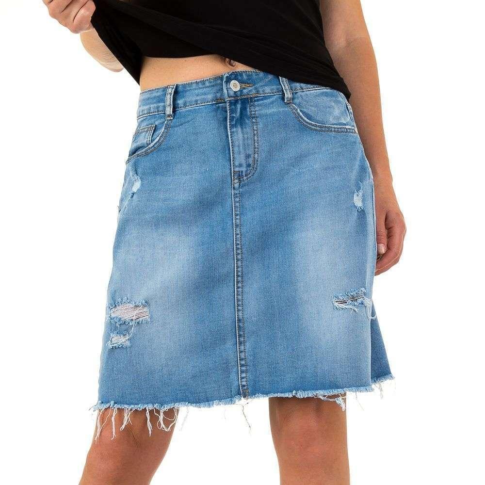 18f942a2f7a7 Рваная джинсовая юбка трапеция Realty Jeans (Европа) Синий