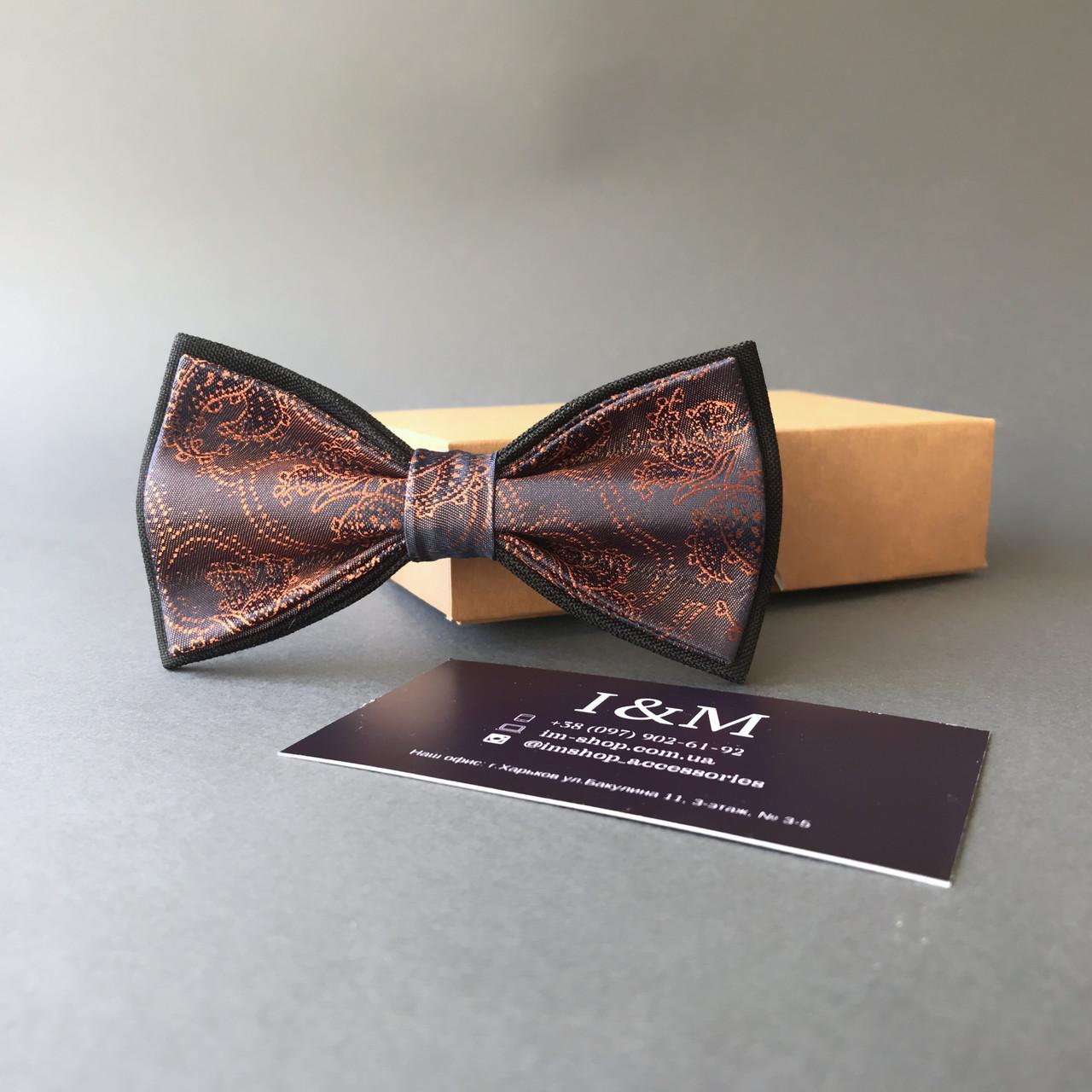 Краватка-метелик I&M Craft фіолетовий з переливом (0102004005)