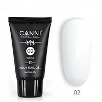 Полигель (акрил-гель) CANNI №02 UV/LED 45 г, white