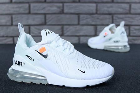 Мужские кроссовки в стиле Off White x Nike Air Max 270, фото 2