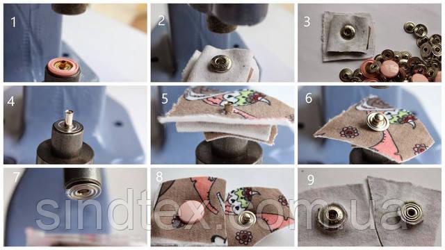 как установить люверсы инструментом