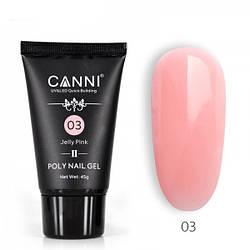 Полигель (акрил-гель) CANNI №03 UV/LED 45 г, jelly pink