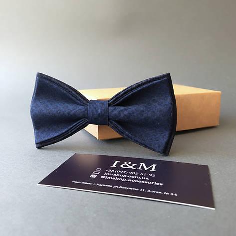 Галстук-бабочка I&M Craft синий в черные ромбы(010287), фото 2