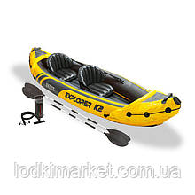 Надувной Каяк Intex 68307 Explorer К2 Kayak
