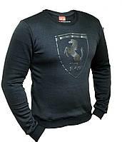 Кофта мужская в стиле Puma Ferrari Black. Свитшот, реглан мужской