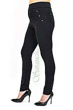 Лосины женские классика (батал) черный м/дайвинг, шлевки #, р.50-52