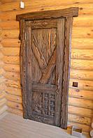 Двери под старину для бани и сауны