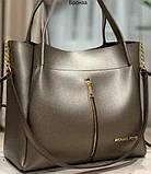 Брендові сумки з довгим ремінцем Michel Kors (чорний)33*26см, фото 6