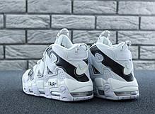 Мужские кроссовки в стиле Off White x Nike Air More Uptempo (40, 41, 42, 43, 44, 45 размеры), фото 2