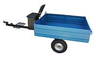 Прицеп 1000х1250 (гп 300 кг) с колёсами 4.00-8, с ящиком и мягкой сидушкой, самосвал