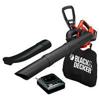 Пылесос садовый аккумуляторный BLACK+DECKER 36В 2Ач 17.5л (GWC3600L20-QW)