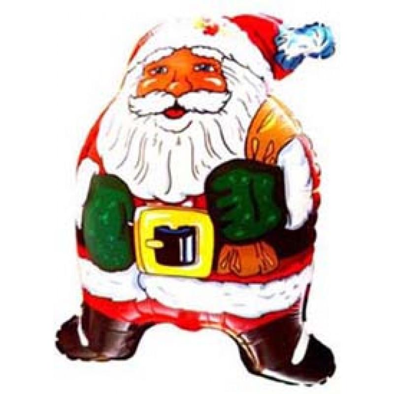 Фольгированный шар Санта Клаус