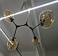 Люстра лофт молекула на 4 плафона (все цвета), фото 3