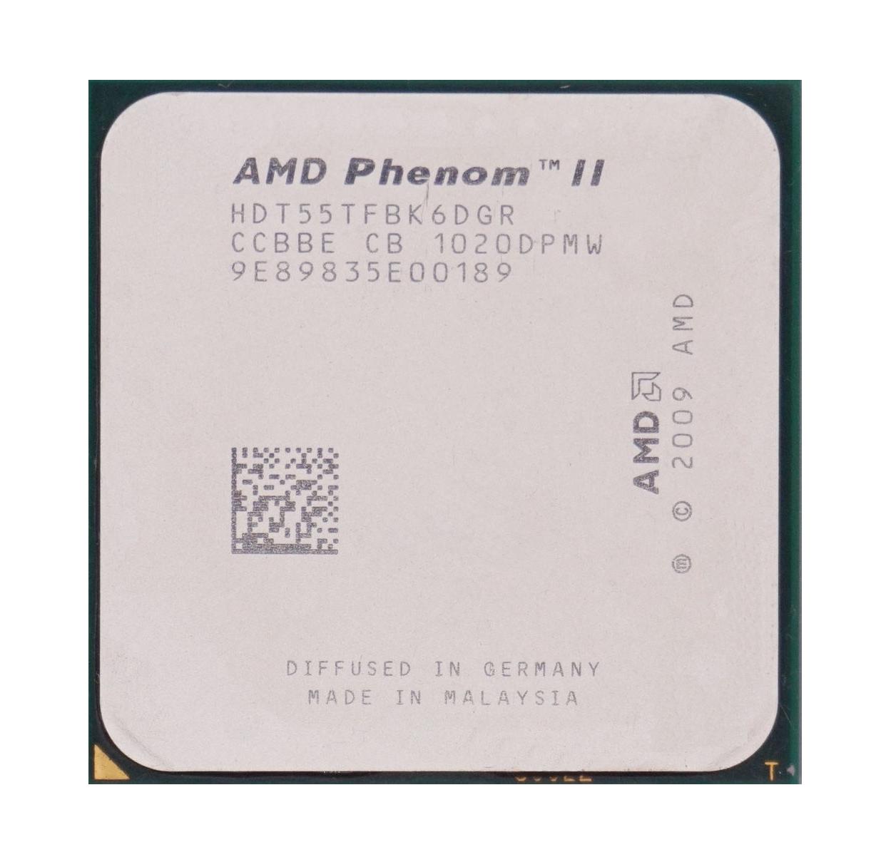 Процессор AMD Phenom II X6 Thuban 1055T, 2800MHz (HDT55TFBK6DGR) sAM3, tray