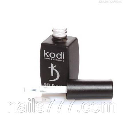 Гель лак Kodi  №20BW,молочно-белый, фото 2