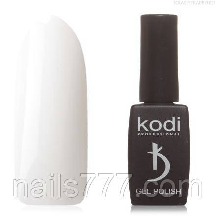 Гель лак Kodi  №20BW,молочно-белый