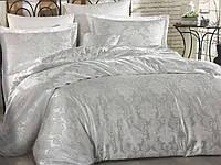 Евро-комплект постельного белья Nazenin жаккардовый сатин. Турция