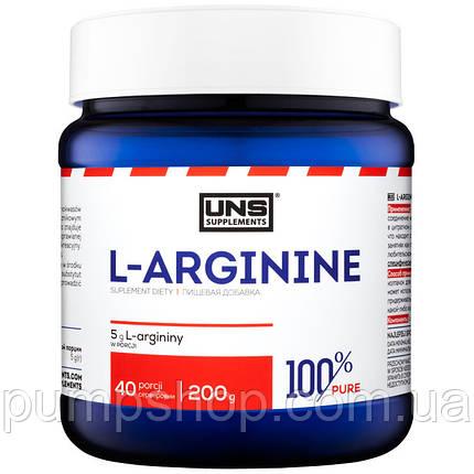 Аргинин UNS L-Arginine 100% pure 200 г, фото 2