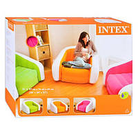 Кресло велюровое надувное с подлокотниками INTEX 68571
