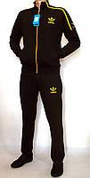 Мужской спортивный костюм черный ADIDAS 1846 (Реплика)