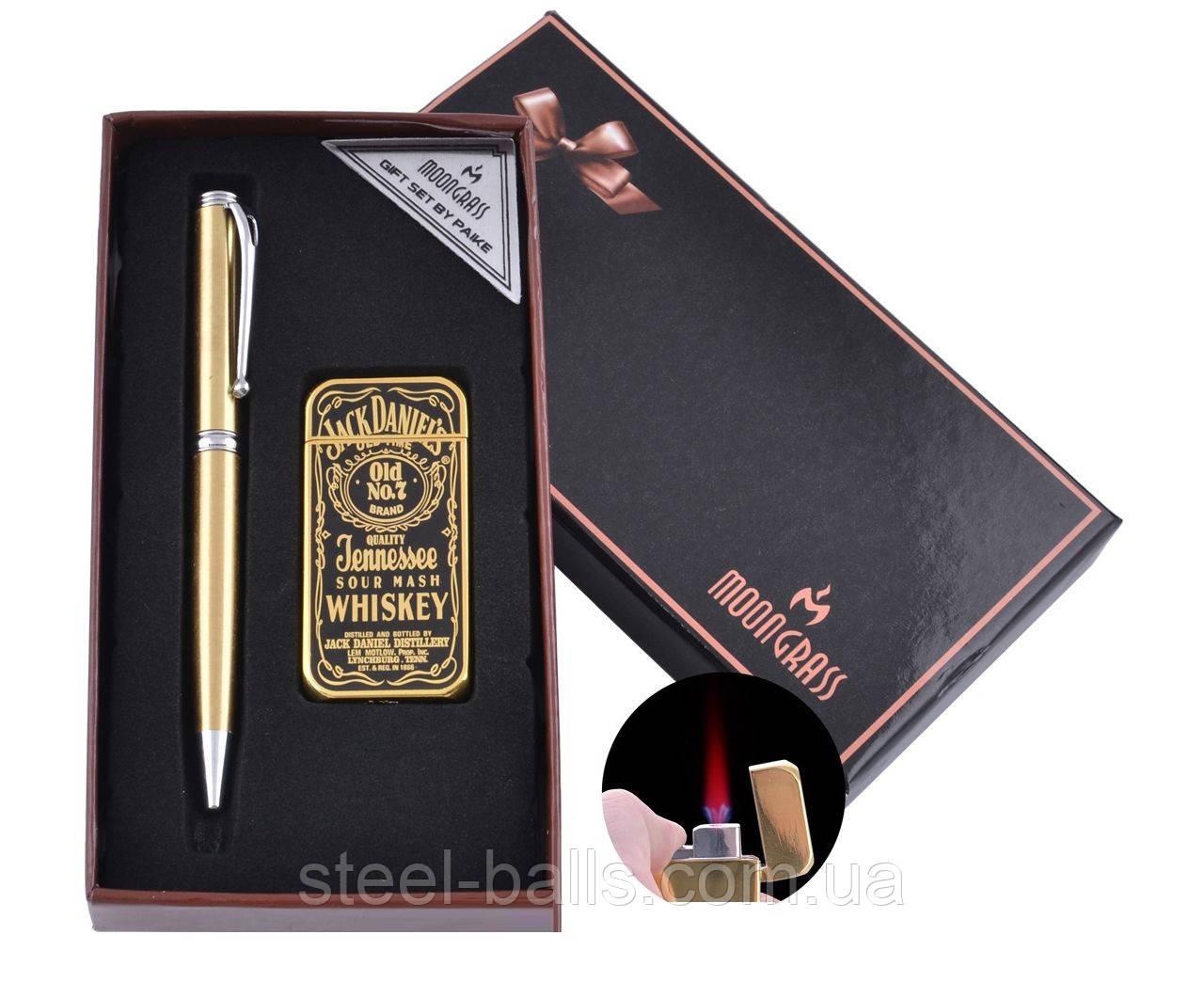 Одарочный набор авторучка и зажигалка Jack Daniel's (Турбо пламя)