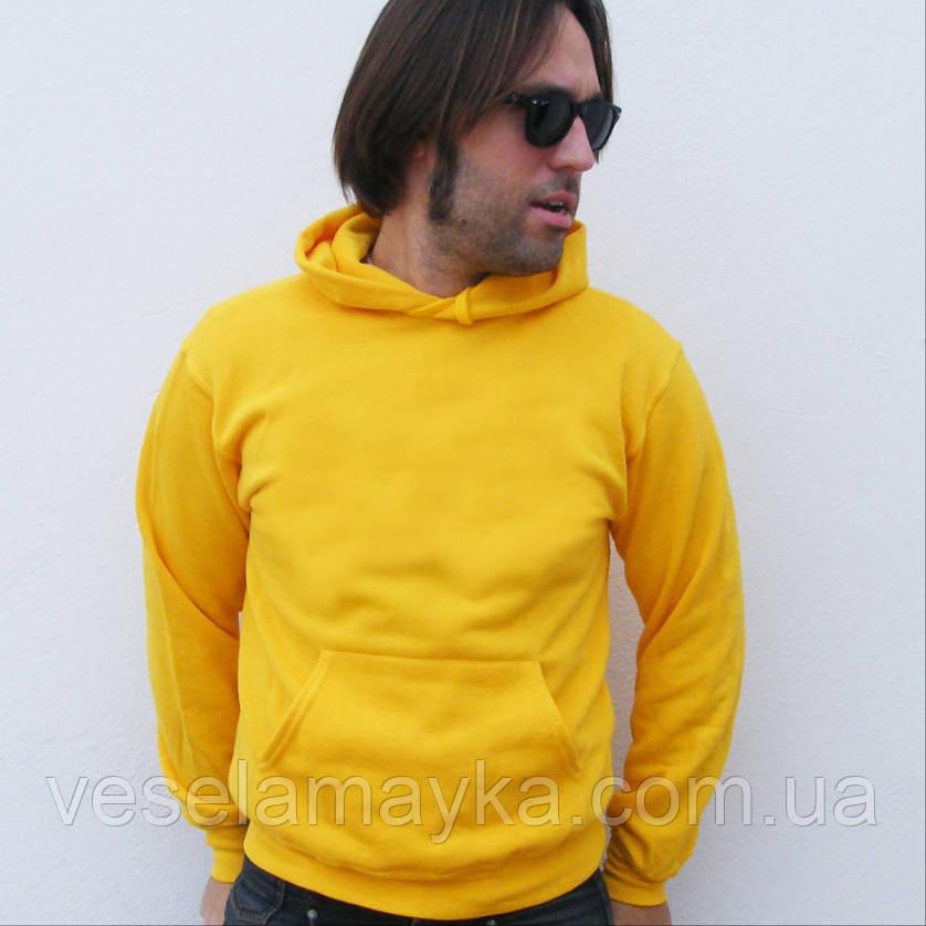 b5303cec Желтая однотонная толстовка с капюшоном , цена 439 грн., купить в ...