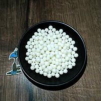 Кондитерская посыпка сахарные шарики Белые (7 мм)  - 50 грамм