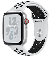 Apple Watch Series 4 Nike+ GPS+LTE 44mm Silver with Pure Platinum/Black Nike Sport band (MTXK2)
