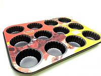 Форма для выпечки кексов A-PLUS 12 шт (1128)