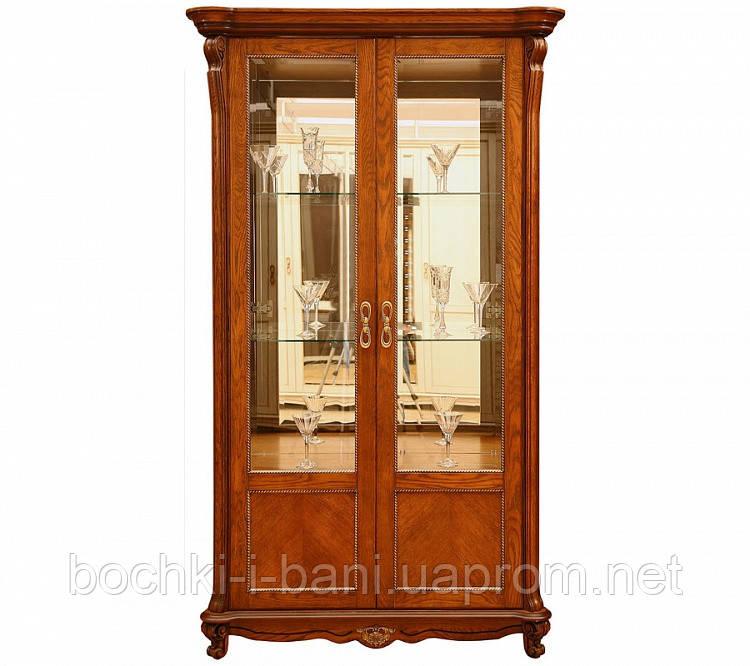 Двустворчатый шкаф-витрина