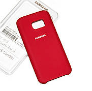 Силиконовый чехол на Samsung S7 Soft-touch Red