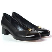 Туфли женская обувь больших размеров Pyra V Gold BS Black Lether by Rosso Avangard лак кожа черные, фото 1