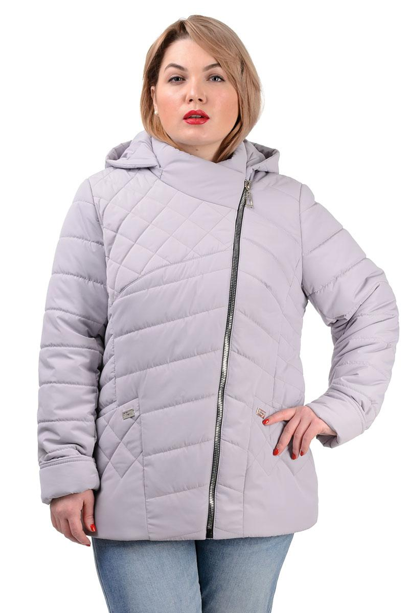 230 Демисезонная куртка «Тайра» светло-серая (50-56)