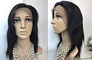 💎Парик натуральный, чёрные ровные волосы💎 (имитация кожи головы), фото 3