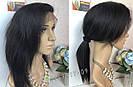 💎Парик натуральный, чёрные ровные волосы💎 (имитация кожи головы), фото 5