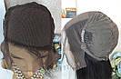 💎Парик натуральный, чёрные ровные волосы💎 (имитация кожи головы), фото 8
