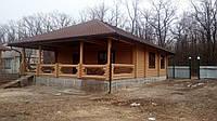 Строительство деревянного дома из оцилиндрованного бревна диаметром 220мм
