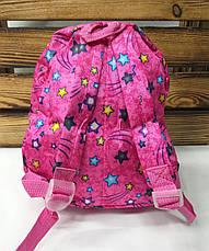 """Детский тканевой рюкзак розового цвета, со съемной игрушкой """"Мишка"""" розового цвета, регулируемые лямки, фото 3"""