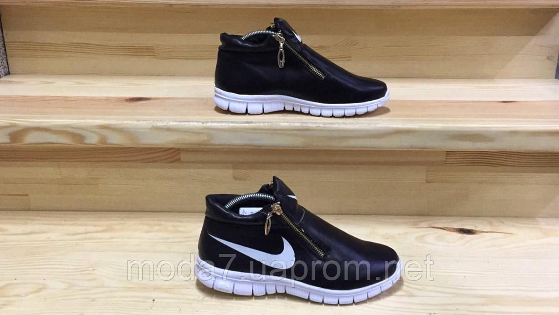 Женские подростковые кроссовки Nike черные реплика 41р