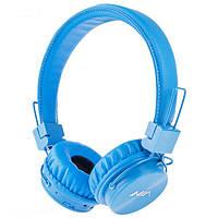 NIA X3 Беспроводные Bluetooth стерео наушники с МР3 и FM голубые Blue 90ad2889b06f8