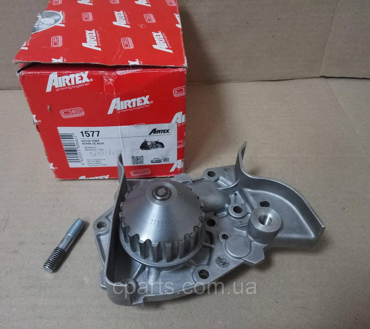 Помпа (водяной насос) Dacia Solenza (Airtex 1577)(высокое качество)