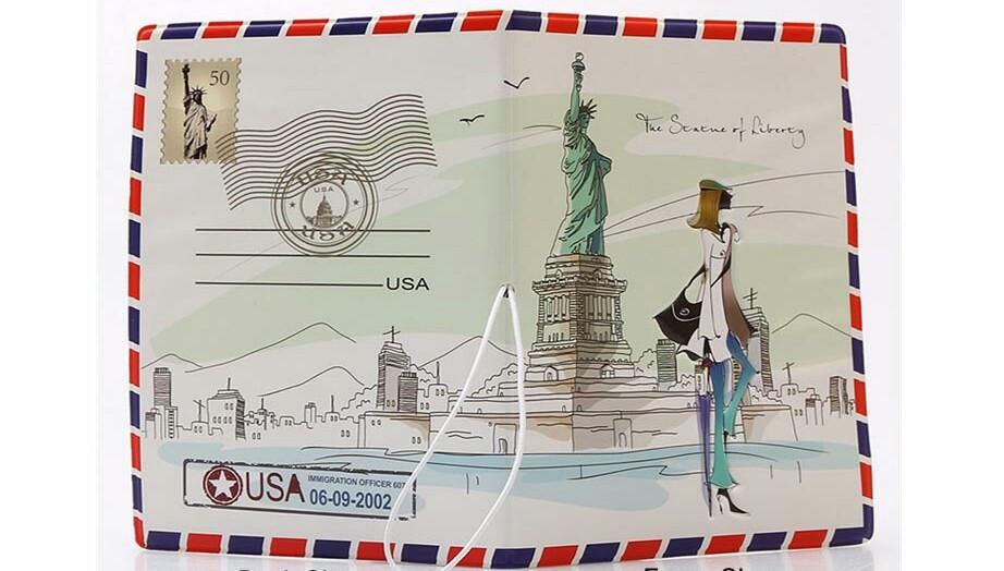 Обложка на паспорт Статуя Свободы